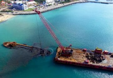 "KOOLE Maritime has successfully salvaged the wreck of the ""EL MAUD"" in Maigot bay, St. Maarten"