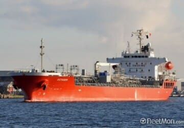 Oil/chemical tanker Octaden, Gran Canaria, Spain