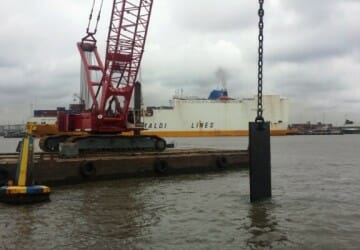Wreck removal 100m cement barge