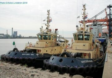 SVITZER tug boats Nabi an Nari, Rotterdam, the Netherlands