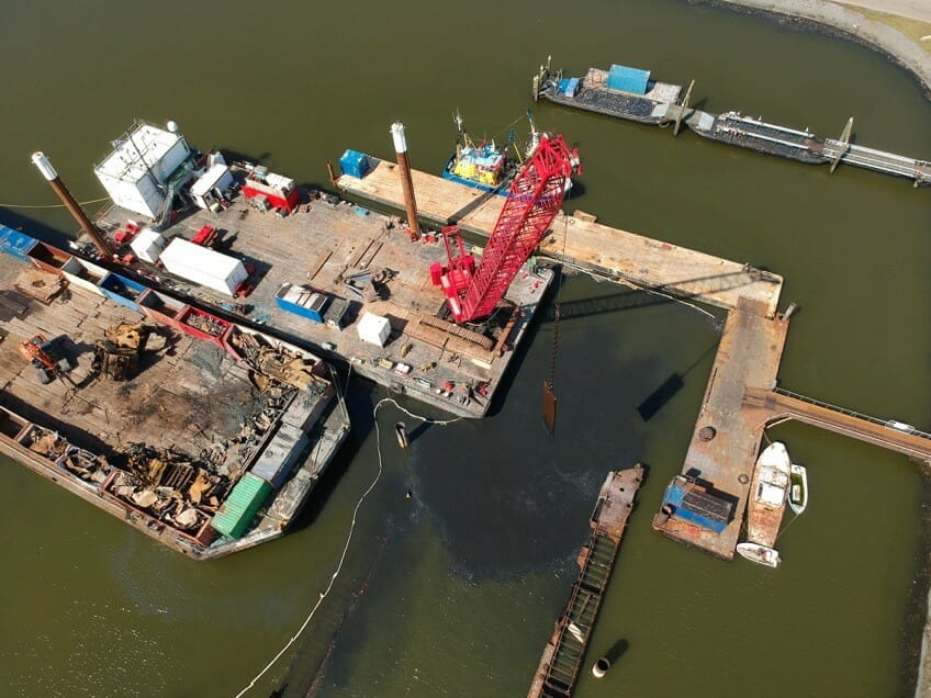 "Wreck removal of ""Dry Dock"", The Netherlands"