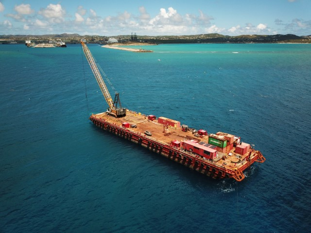 Dredging cable trench US Virgin Islands